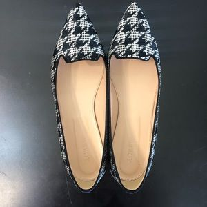 J. Crew Houndstooth Pointy Toe Flat Shoes